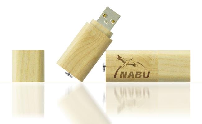 UGV 024 - USB Gỗ Grove Nắp Đậy