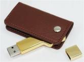UDV 013 - USB Vỏ Da Xoay